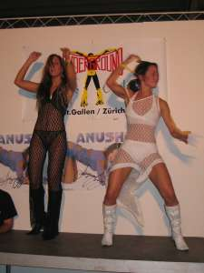 Sexy dance show on the Extasia in Zurich