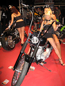 Hot girls from the Extasia 2007 in Zurich on motorbikes